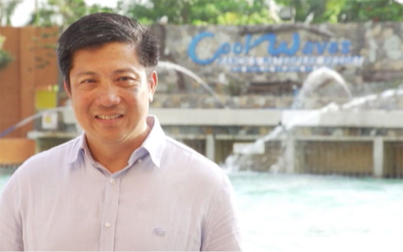 "Dennis Cruz, the man dubbed as the country's ""wave pool king."""